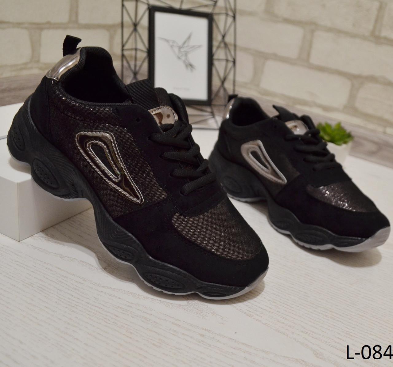 103faf2cdf0a Кроссовки черные на высокой подошве, женская спортивная обувь