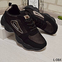 Кроссовки женские черные, мягкие, женская обувь, фото 1