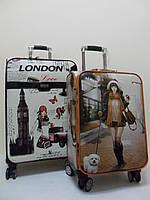 """Чемоданы 4-колесные из искусственной кожи с портпледным отделом """"Леди в Лондоне""""., фото 1"""