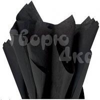 Тишью папиросная бумага черная 50 х 70см