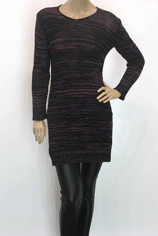 Жіноче трикотажне вязане плаття туніка, фото 2