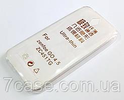 Чехол для Asus Zenfone GO ZC451TG силиконовый ультратонкий прозрачный