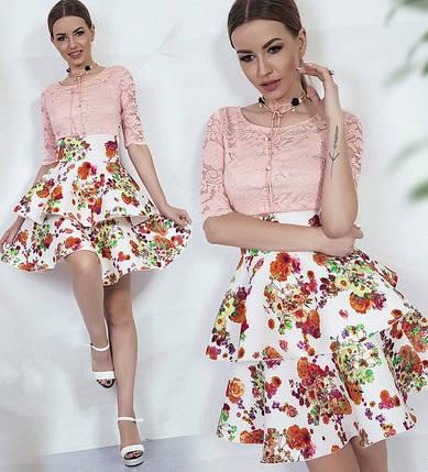 Платье с юбкой в цветок, фото 2