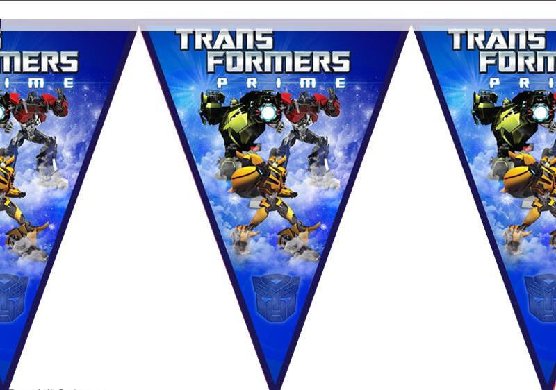 Гирлянда флажки Трансформеры
