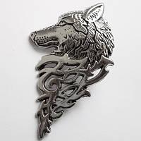 """Брошь """"Волк"""", размер 5.5х3.4  см. Материал: цинковый сплав."""