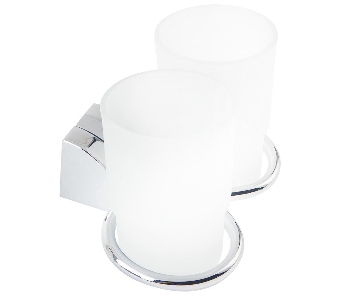 FERRO Cascata Держатель на два стакана для зубных щеток, хром