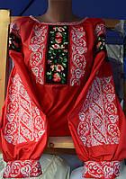"""Блузка з вишивкою """"Казкова""""червона"""