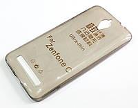 Чехол для Asus Zenfone C ZC451CG силиконовый ультратонкий прозрачный серый
