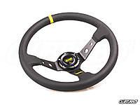 Рулевое колесо OMP style с выносом,  желтая вставка, фото 1