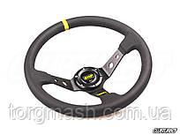Рулевое колесо OMP style с выносом,  желтая вставка