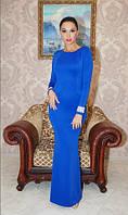 """Вечернее платье дайвинг в пол """"Sofi"""" с длинным рукавом и открытой спиной (6 цветов)"""