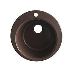 Мийка керамограніт GRAND кругла 45/300 коричневий КАМІНЬ