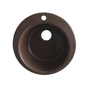 Мийка керамограніт GRAND кругла 45/300 коричневий КАМІНЬ, фото 2