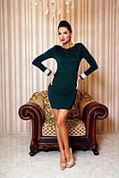"""Облегающее коктейльное мини платье дайвинг """"Sofi 2"""" с длинным рукавом и открытой спиной (5 цветов)"""