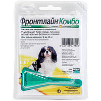 Merial Frontline (Фронтлайн) КОМБО Спот-он моно пипетка для собак весом 2-10 кг