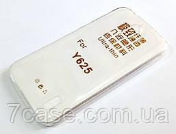 Чехол для Huawei Y625 силиконовый ультратонкий прозрачный