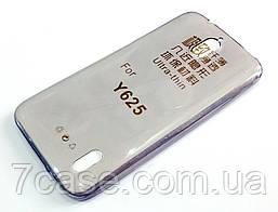 Чехол для Huawei Y625 силиконовый ультратонкий прозрачный серый