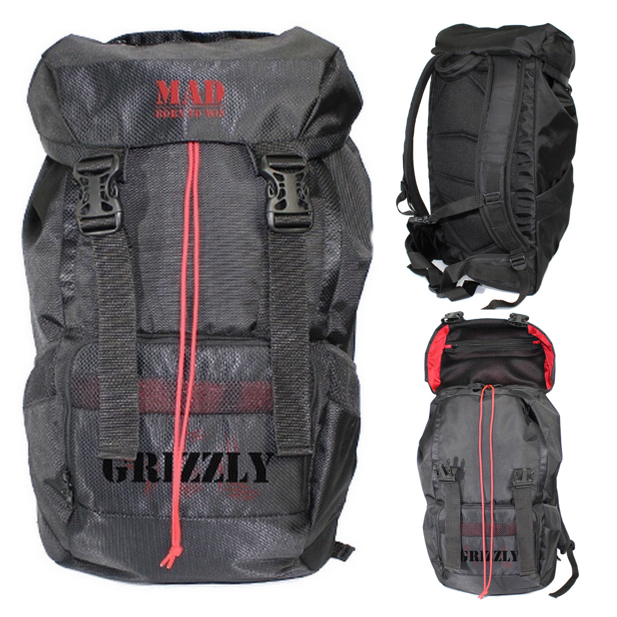 Походный рюкзак GRIZZLY черный