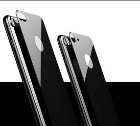 Защитное стекло 4D Metal Back для iPhone 8 Plus (на заднюю крышку)