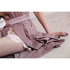 Халат на запах бледно розовый, фото 3