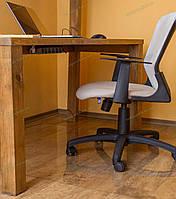 Ковер под кресло для защиты пола прозрачный 80х125см. Толщина 1,5мм