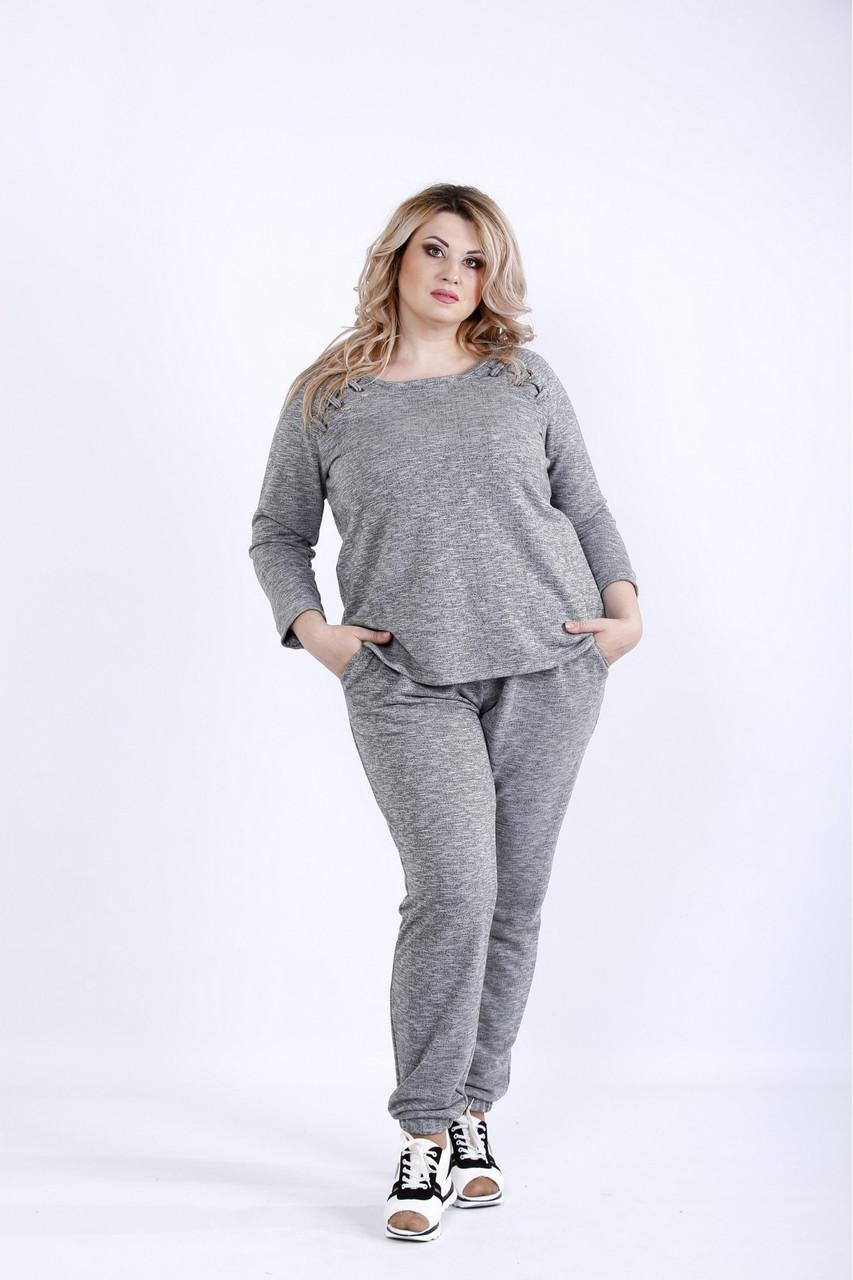 5927fee0 Трикотажный спортивный костюм для полных 0894 оливка - V Mode, прямой  поставщик женской одежды в