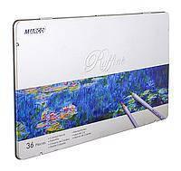 """Цветные карандаши Raffine 36 цветов в металлической упаковке №7100-36TN """"MARCO"""" (уп4\24)"""