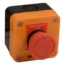 Пост кнопочный одноместный «СТОП» грибок с фиксацией (возврат поворотом) XAL-J174, АСКО-УКРЕМ