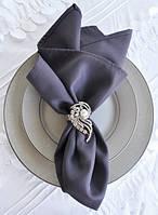 Салфетка тканевая сервировочная темно-серая габардиновая Atteks - 1509