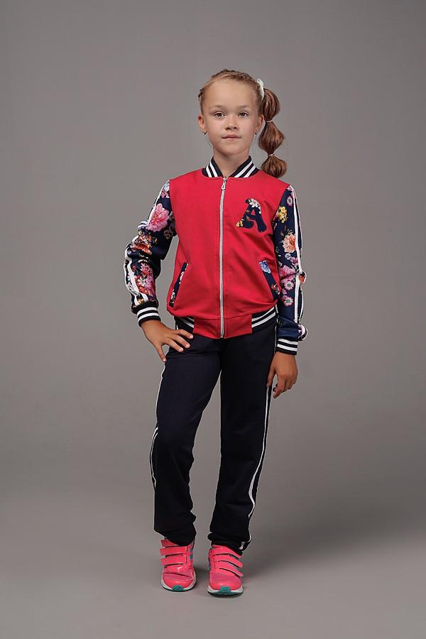Детский спортивный костюм для девочки коралл, мятный и пудра