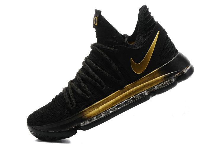d80e8684e673 Баскетбольные кроссовки Nike Zoom KD 10 Black Gold (в стиле Найк) - Интернет