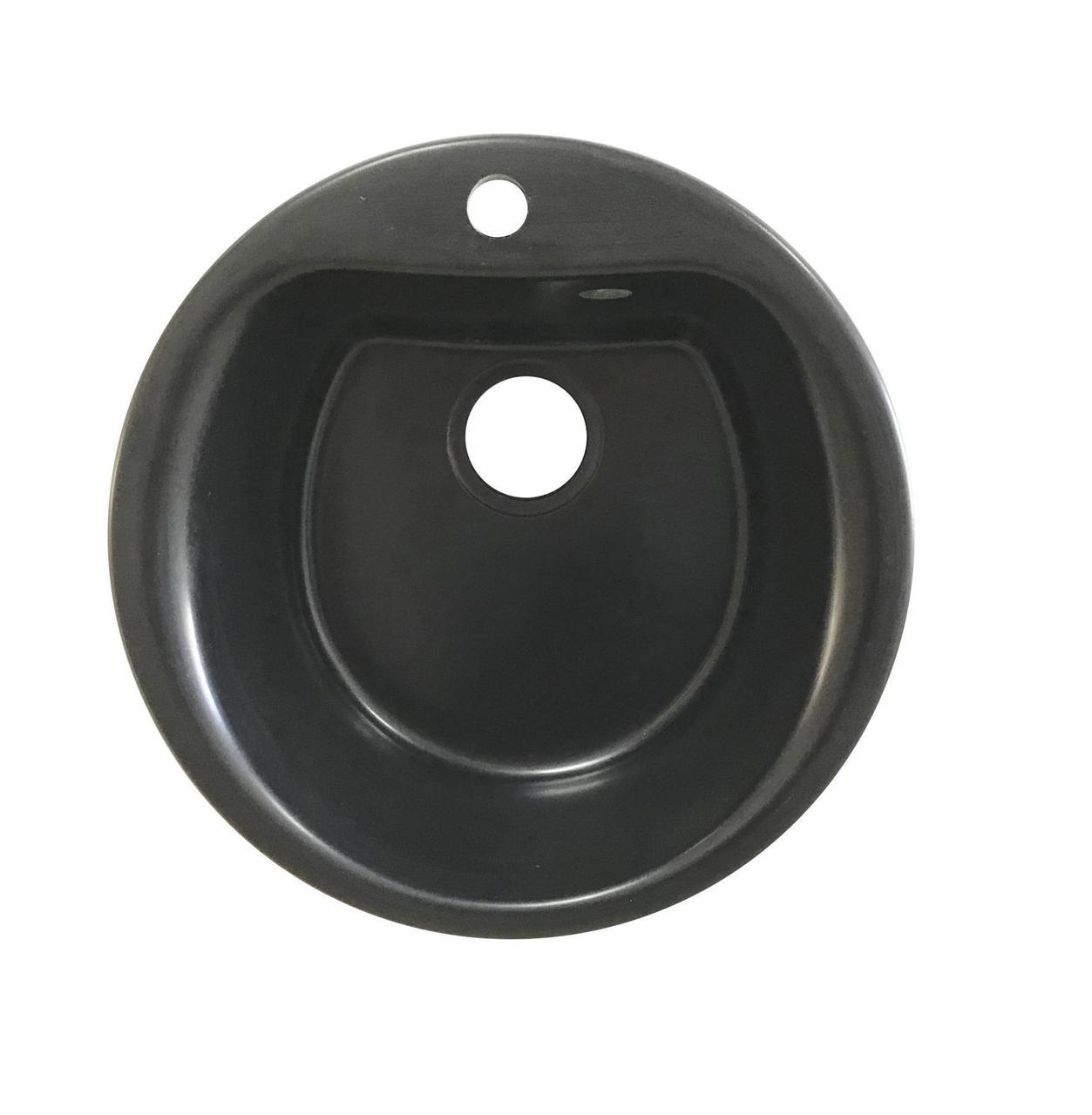 Мойка керамогранит GRAND круглая 51/430 черный камень