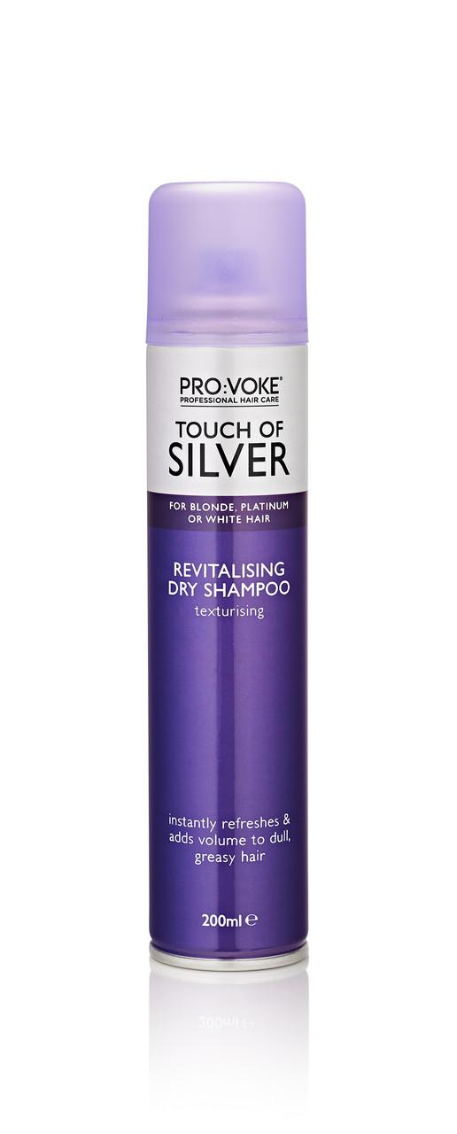 Сухий шампунь для волосся відновлюючий PRO:VOKE Touch of Silver Revitalising Dry Shampoo 200 ml