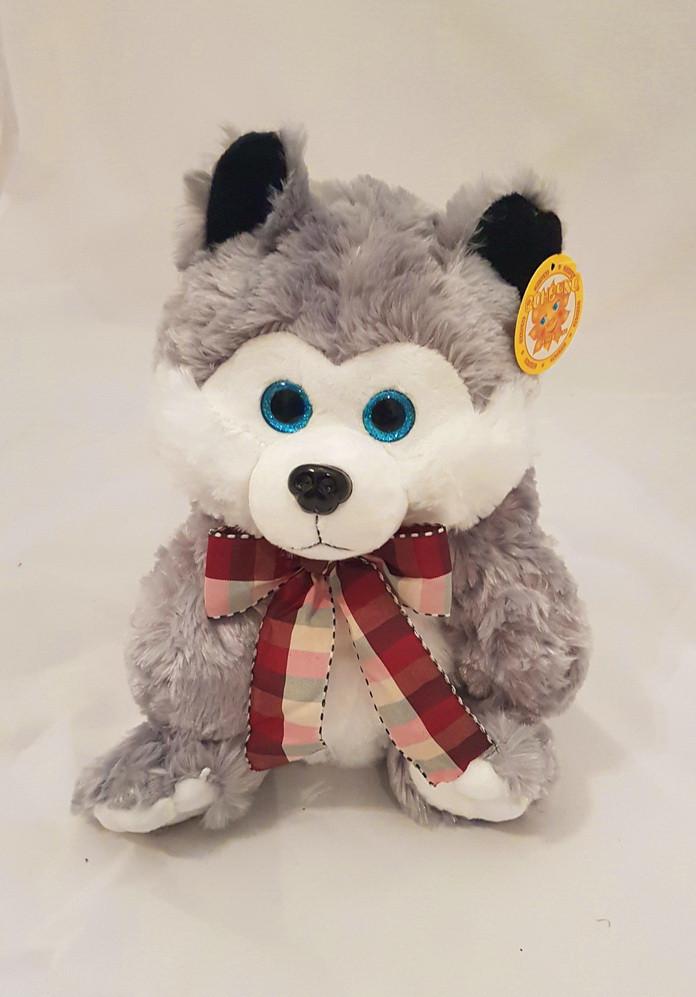 Игрушка упаковка для подарка собака Хаске, 35см