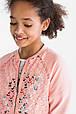 Розовая кофта на молнии с кружевом  для девочки C&A Германия Размер 146-152, фото 2