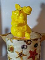 Праздничное мыло ручной работы Мадам свинка в шляпке Вес 260 г. Подложи родным свинью на новый год кабана