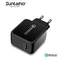 Универсальное зарядное устройство Suntaiho HT-211Q3 Qualcomm Quick Charge 3.0. Быстрая зарядка. Black, фото 1