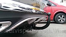 Фаркоп для Mercedes-Benz GLE 2015- быстросъемный крюк на замке, фото 3