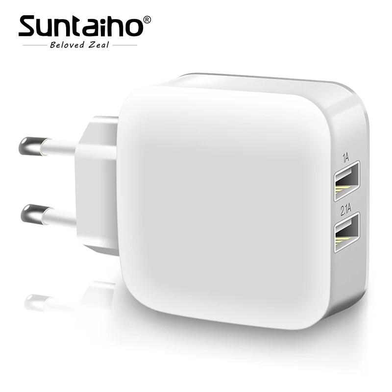 Универсальное зарядное устройство Suntaiho  5В 2.1А. White