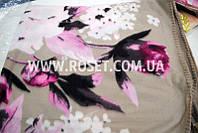 Покрывало плед флисовое рисунок Цветы 210х180 см