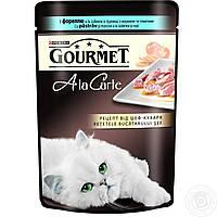 Влажный корм для кошек Purina Gourmet AlaCarte с форелью в подливке с морковью и томатами 85 г.