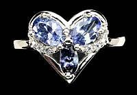 """Нежное кольцо с натуральными танзанитами  """"Любовь"""" размер 17,4 от студии LadyStyle.Biz, фото 1"""