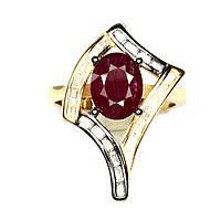 """Красивый перстень с рубинами """"Ромб"""", размер 17, от студии LadyStyle.Biz, фото 1"""