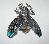 Хорошенькая брошь цветная  бабочка от студии LadyStyle.Biz, фото 1