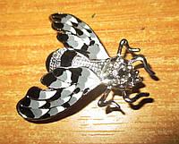 Хорошенькая брошь бело-черная  бабочка от студии LadyStyle.Biz, фото 1