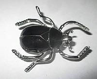 Хорошенькая брошь- черный жук   от студии LadyStyle.Biz, фото 1