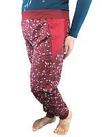 Спортивные женские брюки Красный принт, 52