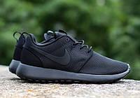 Мужские летние кроссовки Nike Roshe Run All Black 40 Черный