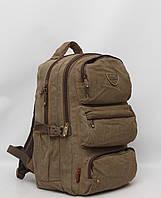 Мужской брезентовый городской повседневный рюкзак Gold Be   GoldBe + чехол    дождевик 9f3ebe8ebd8