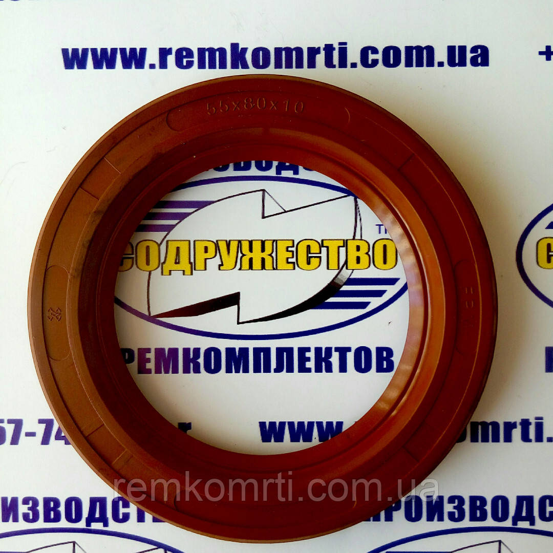 2.2 55 х 80 манжета резиновая армированная (красная)